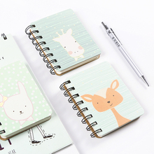 Cute cartoon cute korean notebook Mini Notebook cats coil book note book Little book School Supplies