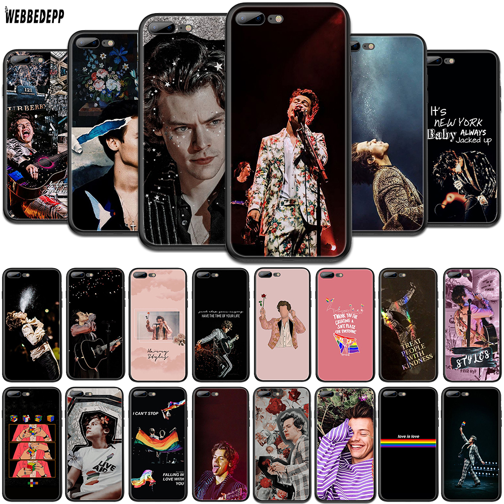 WEBBEDEPP One Direction Tattoos Harry Styles TPU <font><b>Phone</b></font> <font><b>Case</b></font> for <font><b>OPPO</b></font> A1 <font><b>A3S</b></font> A5s A7 A37 A57 A73 A83 F5 F11 R15 R17 Pro Soft Cover image