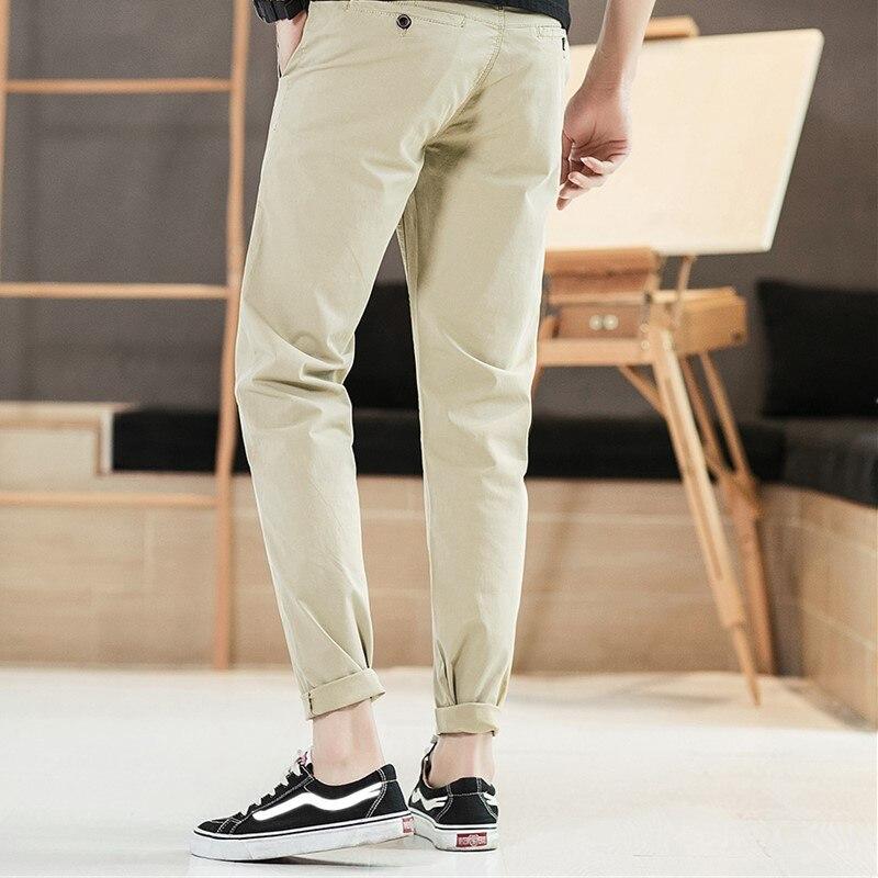 Мужские повседневные брюки 2019 Весна Новые прямые простой узкая нога свободные штаны Европейский Стиль подходит для вечерние работа путешествия знакомства - 2