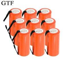 Baterias recarregáveis gtf 1.2v, 2800mah sc ni-cd, células de substituição com tab, cabo de extensão processado envio direto da gota