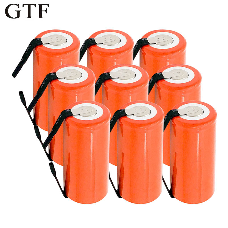 GTF <font><b>1.2V</b></font> 2800Mah <font><b>SC</b></font> Ni-CD <font><b>battery</b></font> <font><b>rechargeable</b></font> batteria replacement Cells with tab an Extension Cord Processed Drop shipping image