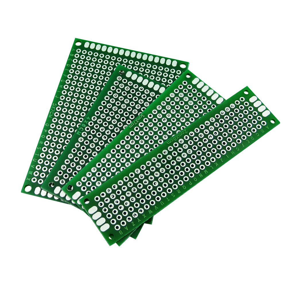 4pcs 5x7 4x6 3x7 2x8 cm double Side Copper prototype pcb Universal Board double side prototype pcb breadboards 2 x 8cm 10 pcs