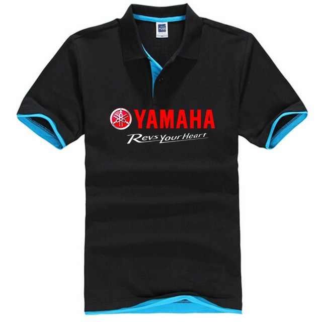 Для мужчин рубашки поло сплошной Цвет Camisa Masculina Для Мужчин's Повседневное хлопок для yamaha обороты ваше сердце принт короткий рукав рубашка поло HOMBRE Джерси