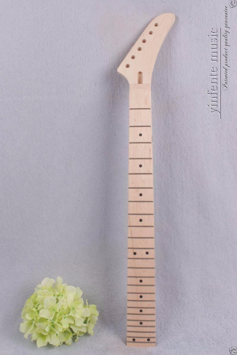Replacement Electric guitar neck 24 fret 25.5'' maple neck Fretboard 1pcs #905 new 1pcs electric guitar neck maple wood fretboard paddle 22 fret 25 5 bolt on