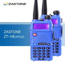 2pcs/lot ZASTONE V8 Walkie Talkie Same as baofeng uv5r Dual Band VHF UHF Two Way CB Ham Radio HF Transceiver bapfeng uv-5r Style