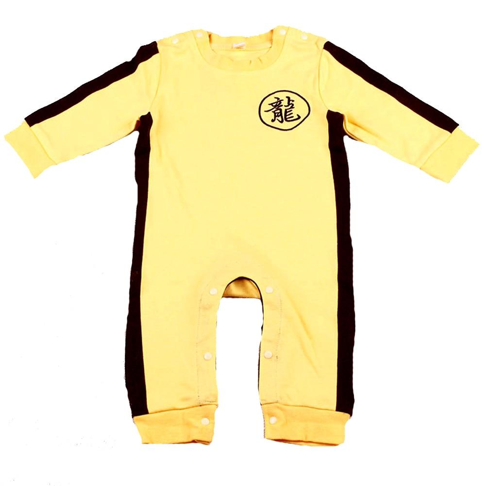 Fairy Baby Baby Boyss Kung Fu Onesie Long Sleeve Jumpsuit