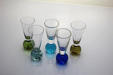 1PC 45ml Personlized cocktail glass cups martini highball top grade wholesale for party wedding Glass Cups Random Color JS 1116