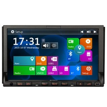 7-inch Digital Touchscreen 2 DIN Universal  Car DVD Player Audio Bluetooth In Dash Car Stereo GPS Navigation