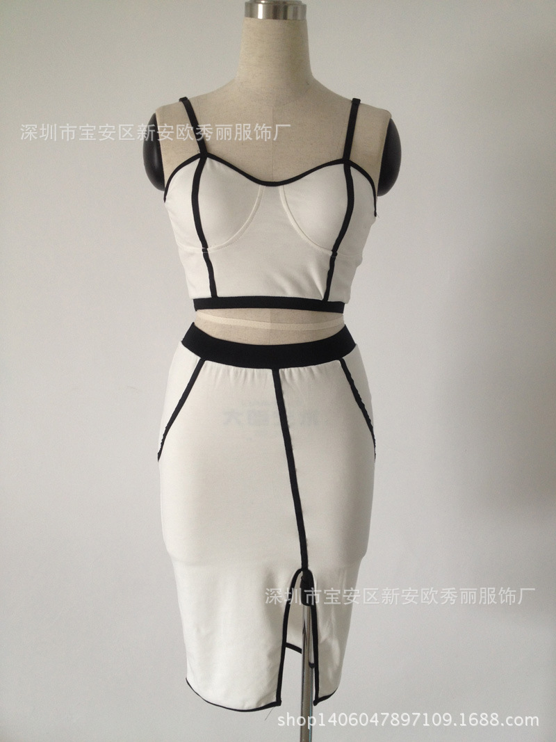 484d3920fd Speed to sell through Ebay selling bandage Bodycon slimming two piece  pencil skirt dress suit S XXL-in Dresses from Women's Clothing on  Aliexpress.com ...