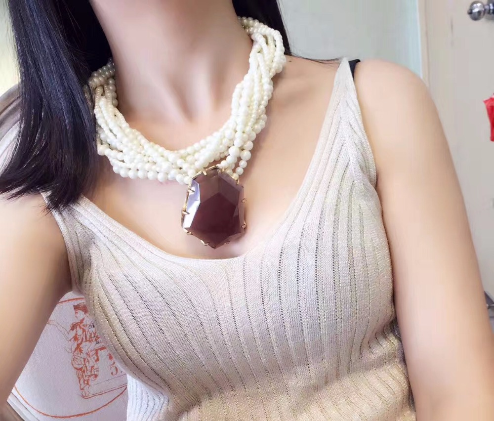 Amorita boutique fashion design tea-coloured crystal color pearl necklace betsy princess сандалии betsy princess для девочки