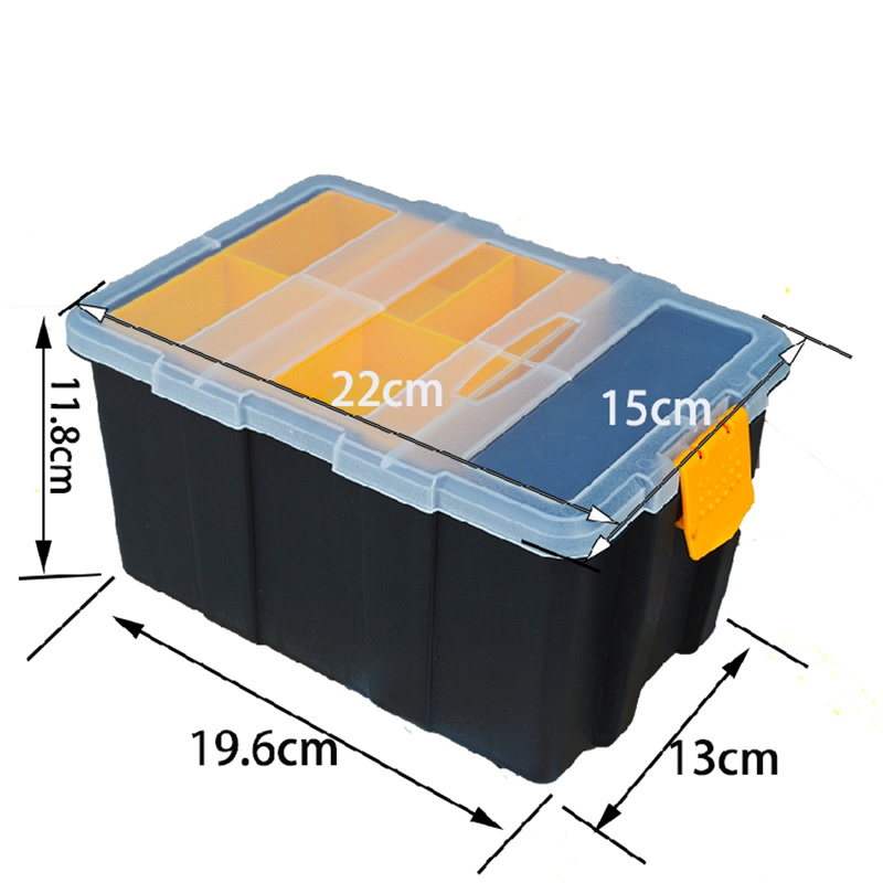 Profession ABS Plastic Transparent Cover Tool Box Waterproof Wear - Resistant Metal Storage Box Modular Parts Screw Box