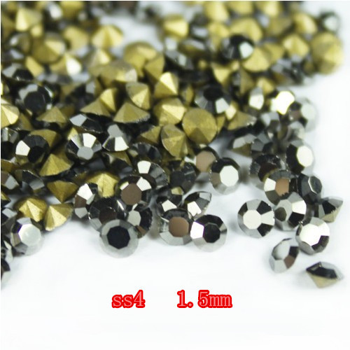 SS4 14400Pieces 100Gross Point Back Rhinestone Hematite Color Point Back Chaton Free Shipping степлер мебельный gross 41001