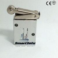 Бесплатная доставка 3 разъём(ов) руководство механические клапан рук клапан пневматический 1/4 дюймов JM-07 тип колеса с роликовым кнопка