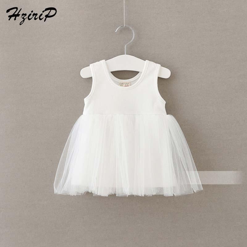 купить 2017 New Cute Infant Baby Girls Dress Kids Children Cotton Vest Wedding Party Princess Dresses Sleeveless Little Girl Clothes по цене 372.14 рублей