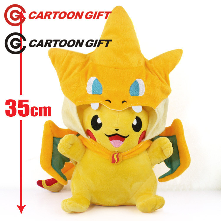 NEW hot 35cm Pikachu cos Charmander Plush Toys soft Stuffed Doll Christmas gift 5pcs lot pikachu plush toys 14cm pokemon go pikachu plush toy doll soft stuffed animals toys brinquedos gifts for kids children