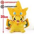 NEW hot 35cm Pikachu cos Charmander Plush Toys soft Stuffed Doll Christmas gift