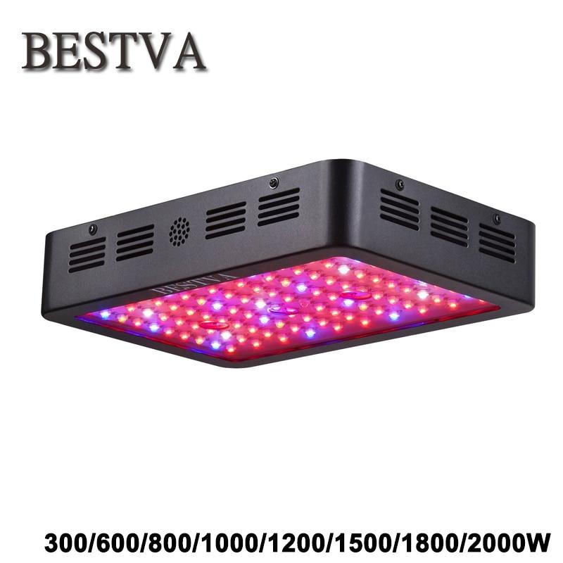 BestVA 300 Вт / 600 Вт / 800 Вт / 1000 Вт / 1200 Вт / 1500 Вт / 1800 Вт / 2000 Вт Полный спектр лампа для растений светодиодная лампа семенацветы комнатные палатки ги...