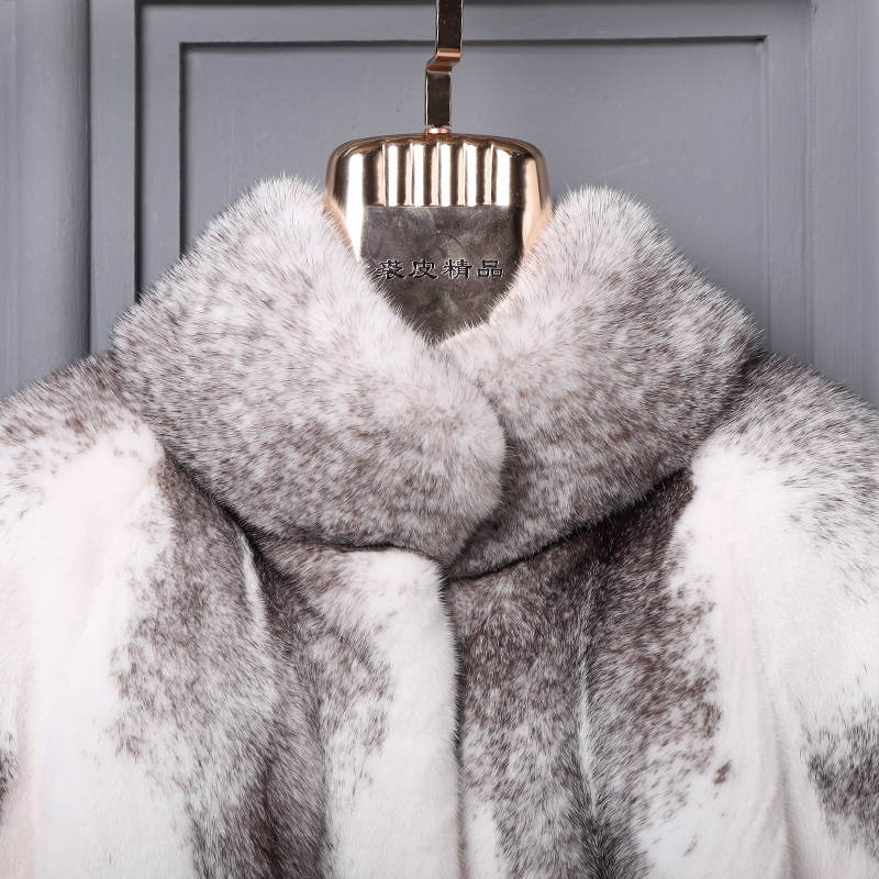 Mince Faux De Vison Wamr Col Mandarin Picture Épaisse Xhsd D'hiver Mode Manteau Bureau Survêtement 278 Fourrure As Pelt En Fausse Pleine Dame Yfxwq7q4