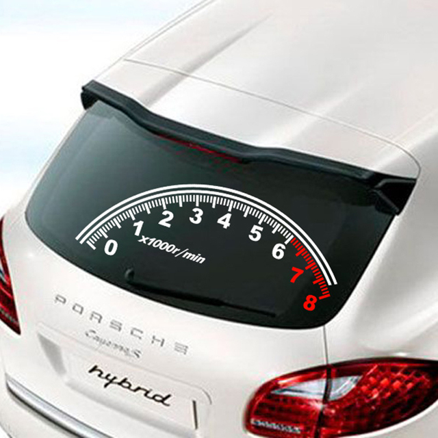 Hign quality reflective speedometer decoration car rear window decals and stickers for nissan hyundai