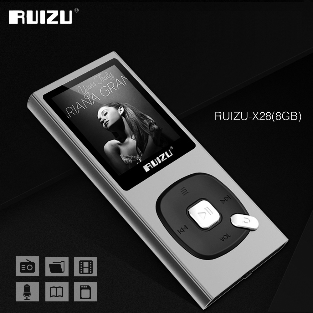 Original RUIZU X28 MP3 Player 8GB MP3/WAV/APE/WMA/FLAC High Sound Quality Lossless Music Player With FM Recorder Support TF Card