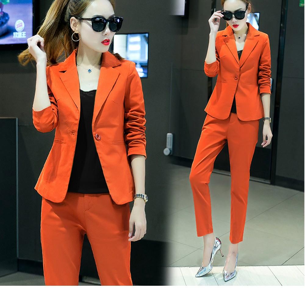 2017 w nowym stylu mody OL eleganckie kobiety pant suits formalna firm garnitur nosić pełne rękawem jednego przycisku femme blazer garnitur szczupła kurtka 6