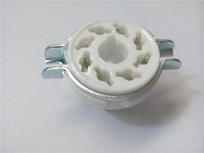 8pcs ceramic tube socket Large seat tube socket 8 pin GZC8-1 seat tube holder Silver foot for 6SN7/EL34/KT88/6L6/KT66 bulova часы bulova 96w203 коллекция diamonds