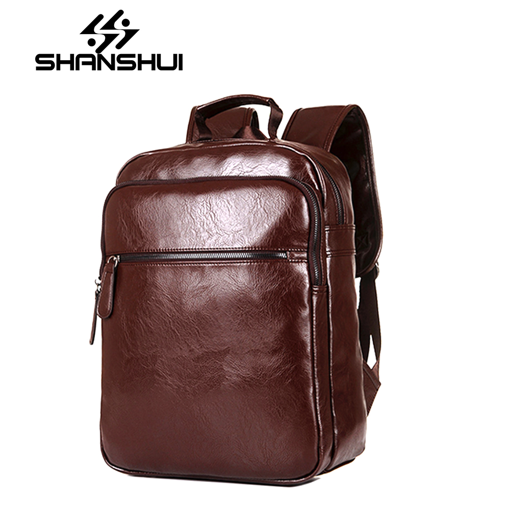 2017 Brand Designer Men Leather Backpack Men's School Backpack Bag Bagpack Mochila Feminina Black brown Travel Bag Shoulder bag brand vintage women bagpack beetle shape cool split leather backpack teenager school bag knapsack cowhide mochila feminina