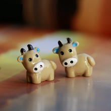 cow microlandscape Decorating kids birthday party gifts little Lovely DIY bonsai