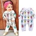 Mamelucos del bebé ropa niños del otoño Set bebé recién nacido algodón ropa muchachas de los bebés de manga larga mono de la ropa trajes de cuerpo