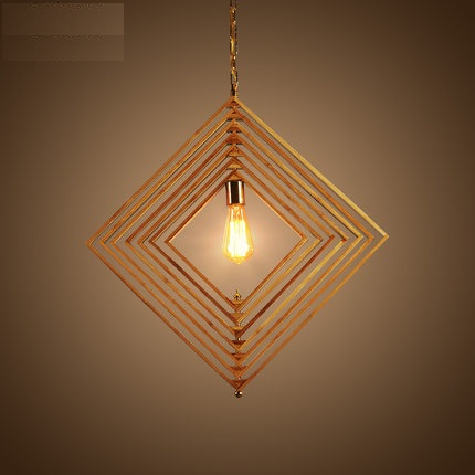 DIY Loft Style Wood Bamboo Droplight Edison LED Vintage - Внутрішнє освітлення
