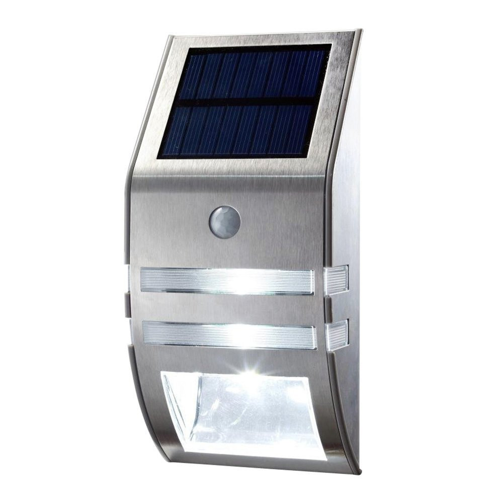 Aliexpress.com : Buy 1X Silver Led Solar Wall Light PIR Motion Sensor Garden Lights Wall Motion ...