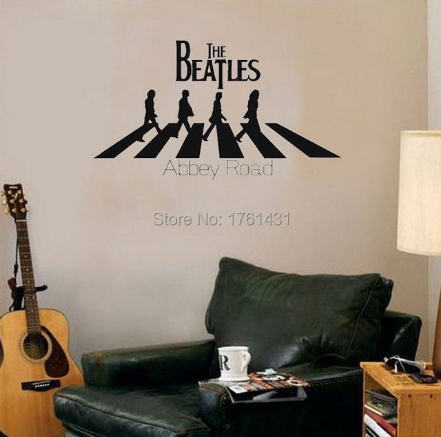 The Beatles Abbey Road Home Decoration Wall Art Decals Quote Removable Stickers Decor Murals