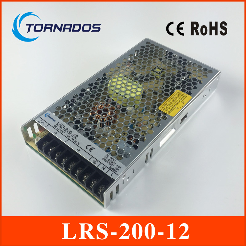 LRS-200-12 LED Switch Power Supply Driver for LED Light DC 12V ac/dc single output 200w 12v slim type led driver power supply image
