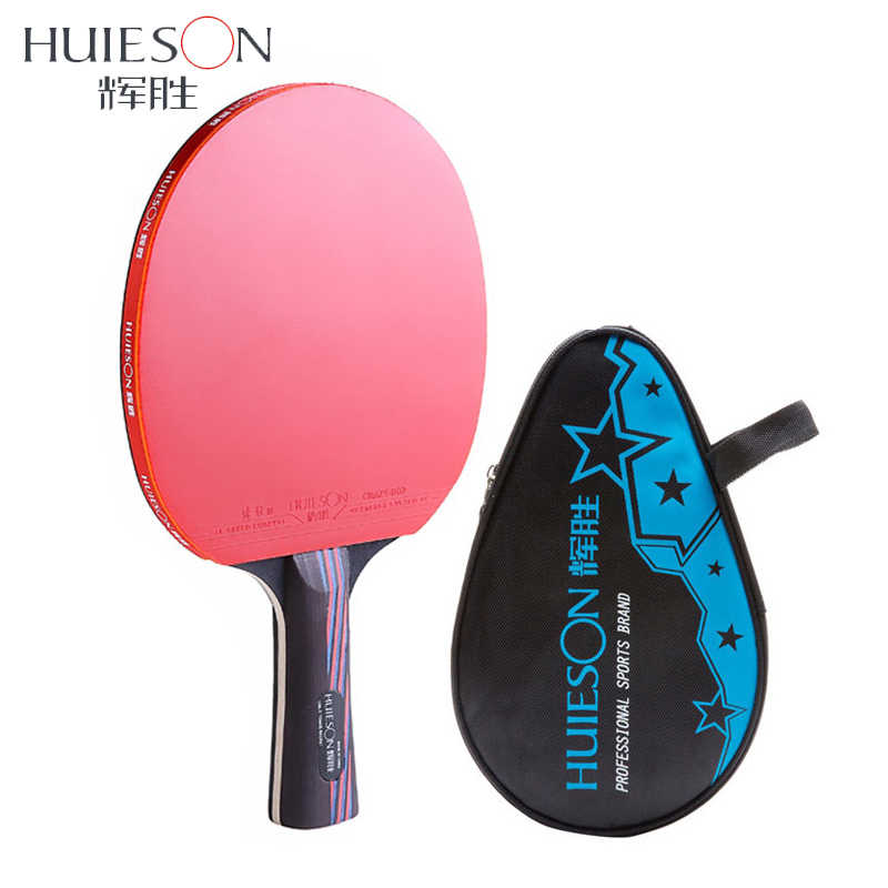 Professional Carbon Fiber Table Tennis Racket With Double Face Pimples-in Racket Rubber Table Tennis Bat Short Long Handle