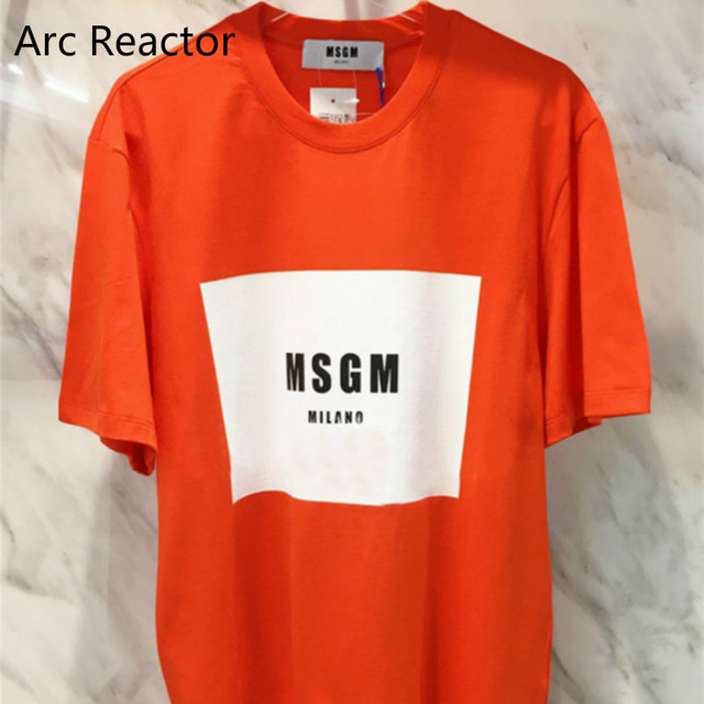 c5025e74 2017SS MSGM T Shirts Women fashion girl club Hip Hop Skateboard Box Logo  Casual Kawaii Msgm Milano Kanye Paris assc men T-shirt