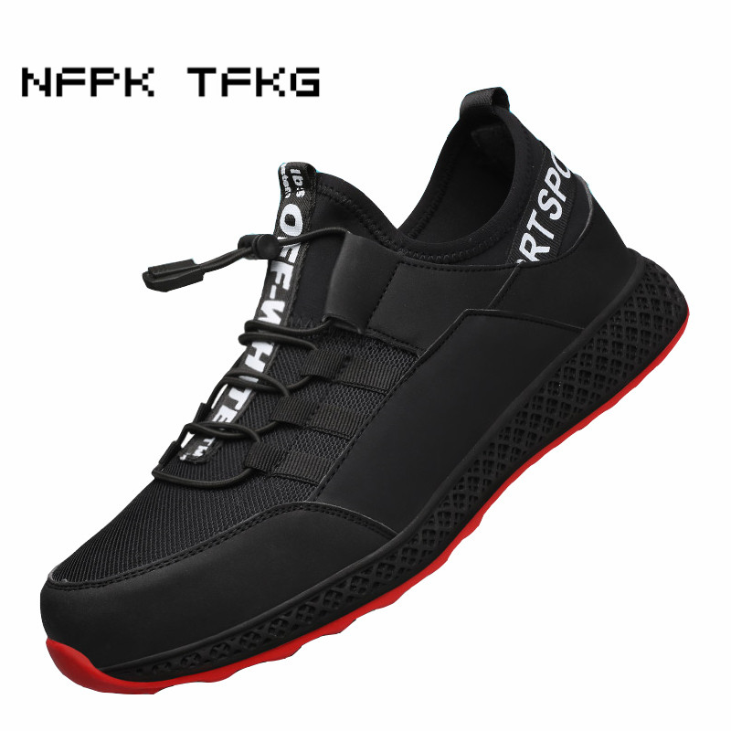 mens big size breathable summer steel toe caps working safety shoes outdoor anti pierce builder dresses