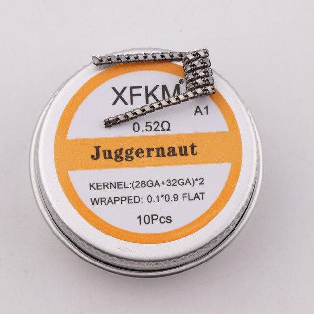 NEW XFKM 10pcs Prebuilt Coil Half Staggered Fused Clapton Coil 0.27ohm 32GA Heating Wire for RDA RBA DIY Atomizer 2