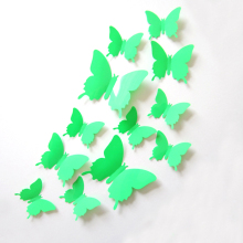 12Pcs 3D PVC Magnet Butterflies DIY Wall Sticker Home Decor Poster for Kids Rooms t Wall Decoration Drop TV Wall