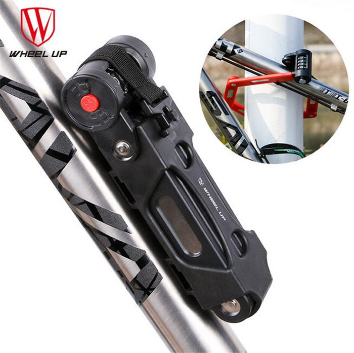WHEEL UP Anti-theft Alloy Steel Bicycle Lock Professional Floding Bike Lock Foldable With Password Anti-cut Safety Cycling Lock abus newest top quality bordo lite 6050 85 professional cycling bike anti theft foldable lock bicycle cycle biking fold lock
