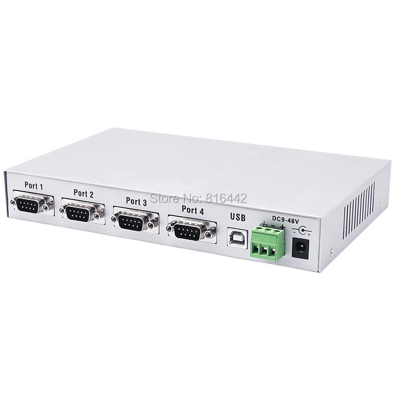 USB to RS232 serial converter 4 port usb to DB9 com converter RS232 hub hightek hk 8204a industrial usb to 4 port rs232 serial converter