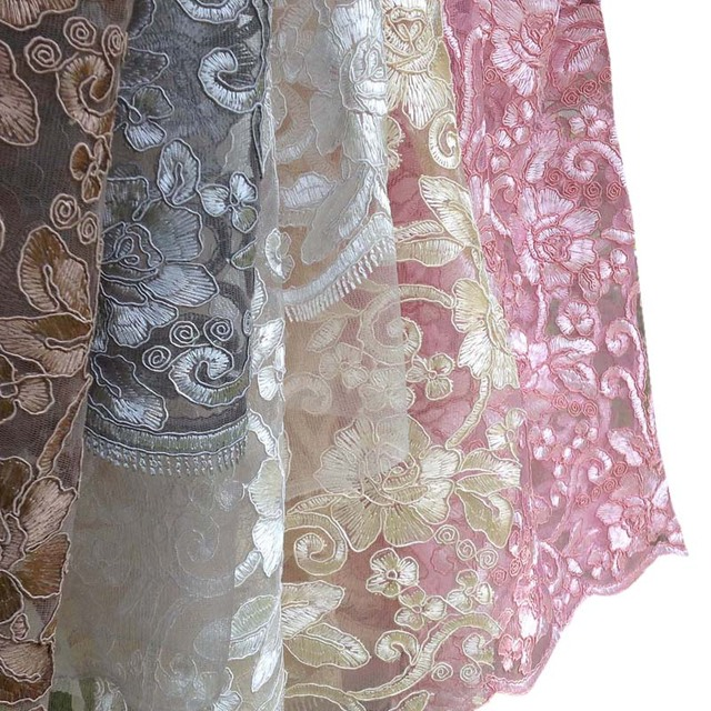 1yard African Mesh Lace Fabric For Dresswidth 130cmtextile Floral