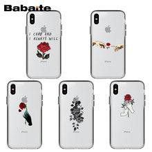 Babaite Rose Bloemen Zachte Siliconen Tpu Telefoon Cover Voor Iphone X Xs Xr Xsmax 10 7 7 Plus 8 8plus 6 6 S 5 5S Se 5C 11 11pro 11 Promax(China)