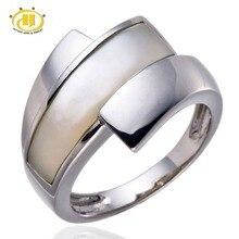 Hutang Blanc Mère de Perle Shell Pur Sterling Argent 925 Ring Fine Jewelry Cadeau D'anniversaire Livraison gratuite(China (Mainland))