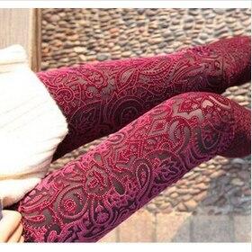 Sexy Gold velvet Warm Leggings For Women Slim Fitness Black Punk Jeggings Ladies Leggings MF784512