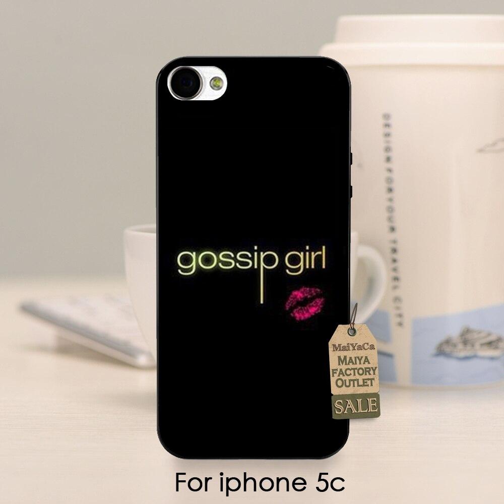 Gossip Girl Patrón de la Impresión de Los Labios de Plástico Clásico de Alta Cal