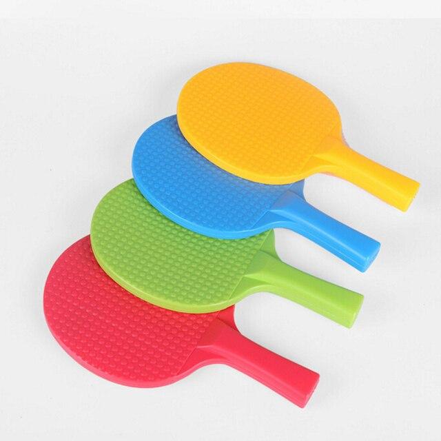 ce617d976 1 Par Plástico Raquetas de Tenis de Mesa Raqueta de Ping-Pong Con 2 Bola