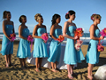 Hot Selling Cheap Strapless Blue Chiffon Short Tea Length Bridesmaid Dress Party Dress Custom Size 4 6 8 10 12 14 16 18++ B20