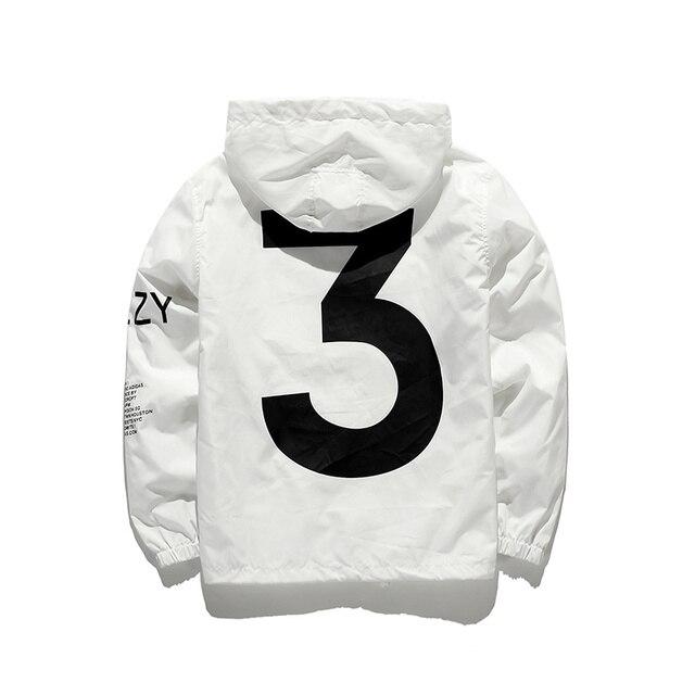 Высокое качество Бренда Yeezus Yeezy 3 Ветровка Куртка Страх Божий Плащ Тонкий Ветрозащитный Brand Clothing