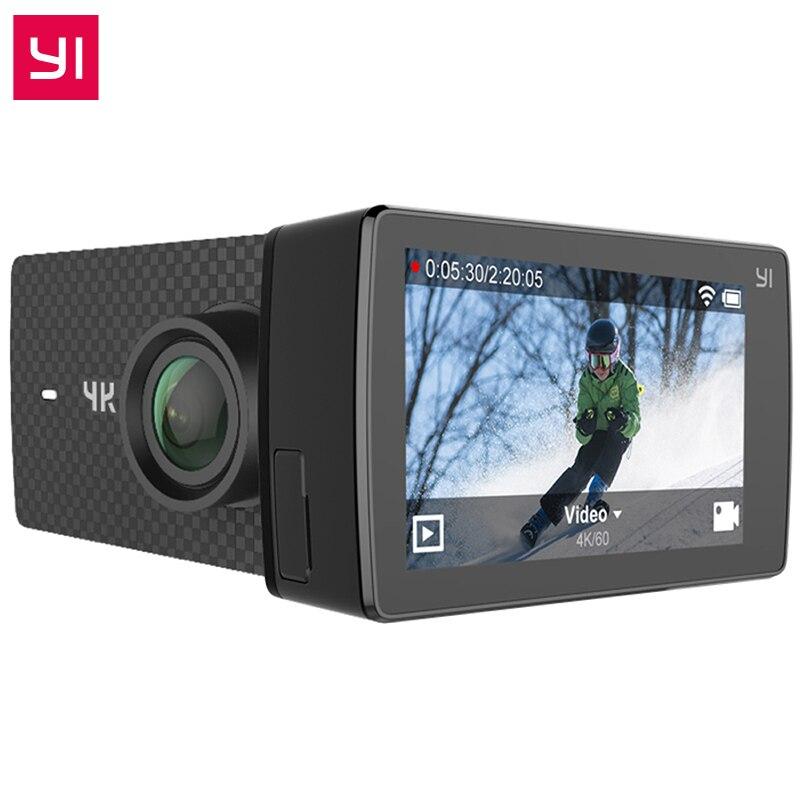 Международное издание YI 4 К + действие Камера Ambarella H2 4 К/60fps 12MP 155 градусов 2,19 сырые YI 4 К плюс Спорт Действие Камера