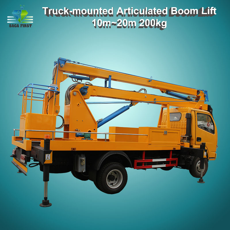 10m~20m Mobile Aerial Lifting Equipment Truck Mounted Boom Lift